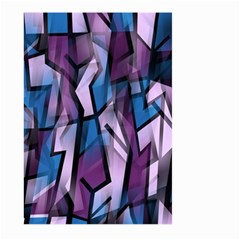 Purple decorative abstract art Large Garden Flag (Two Sides)