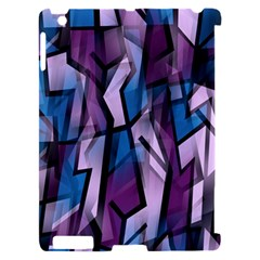 Purple decorative abstract art Apple iPad 2 Hardshell Case (Compatible with Smart Cover)