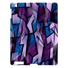 Purple decorative abstract art Apple iPad 3/4 Hardshell Case