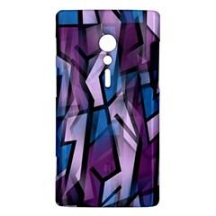 Purple decorative abstract art Sony Xperia ion