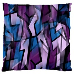 Purple decorative abstract art Large Cushion Case (One Side)