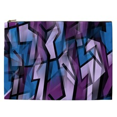 Purple decorative abstract art Cosmetic Bag (XXL)