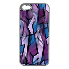 Purple decorative abstract art Apple iPhone 5 Case (Silver)