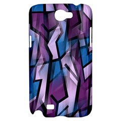 Purple decorative abstract art Samsung Galaxy Note 2 Hardshell Case