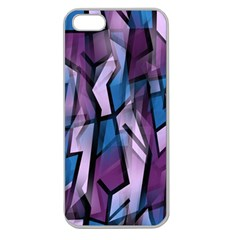 Purple decorative abstract art Apple Seamless iPhone 5 Case (Clear)