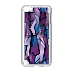 Purple decorative abstract art Apple iPod Touch 5 Case (White)