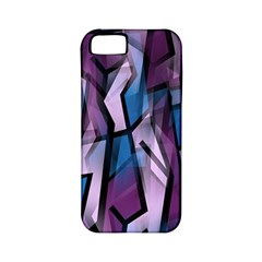 Purple decorative abstract art Apple iPhone 5 Classic Hardshell Case (PC+Silicone)
