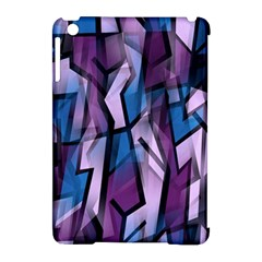 Purple decorative abstract art Apple iPad Mini Hardshell Case (Compatible with Smart Cover)