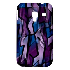 Purple decorative abstract art Samsung Galaxy Ace Plus S7500 Hardshell Case