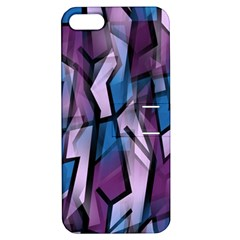 Purple decorative abstract art Apple iPhone 5 Hardshell Case with Stand
