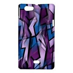 Purple decorative abstract art Sony Xperia Miro