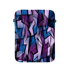 Purple decorative abstract art Apple iPad 2/3/4 Protective Soft Cases