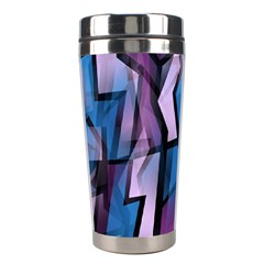Purple decorative abstract art Stainless Steel Travel Tumblers