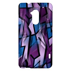 Purple decorative abstract art HTC One Max (T6) Hardshell Case
