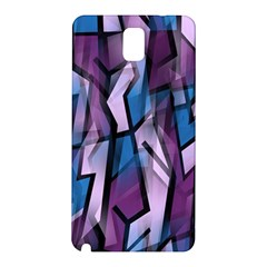 Purple decorative abstract art Samsung Galaxy Note 3 N9005 Hardshell Back Case
