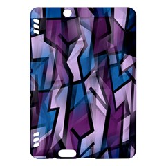 Purple decorative abstract art Kindle Fire HDX Hardshell Case