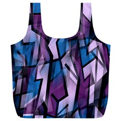 Purple decorative abstract art Full Print Recycle Bags (L)