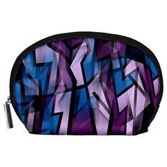Purple decorative abstract art Accessory Pouches (Large)