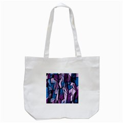 Purple decorative abstract art Tote Bag (White)
