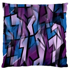 Purple decorative abstract art Large Flano Cushion Case (Two Sides)