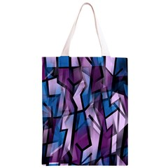 Purple decorative abstract art Classic Light Tote Bag