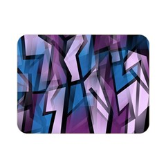 Purple decorative abstract art Double Sided Flano Blanket (Mini)