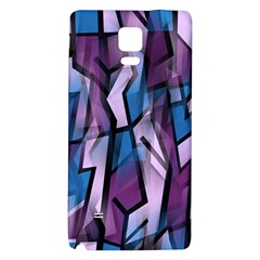 Purple decorative abstract art Galaxy Note 4 Back Case