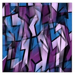 Purple decorative abstract art Large Satin Scarf (Square)