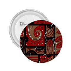 Red and brown abstraction 2.25  Buttons