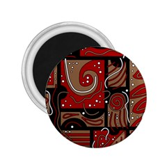 Red and brown abstraction 2.25  Magnets