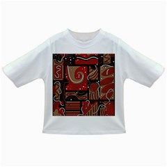 Red and brown abstraction Infant/Toddler T-Shirts