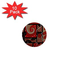 Red and brown abstraction 1  Mini Magnet (10 pack)