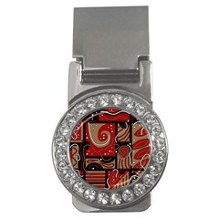 Red and brown abstraction Money Clips (CZ)