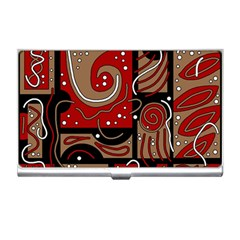 Red and brown abstraction Business Card Holders