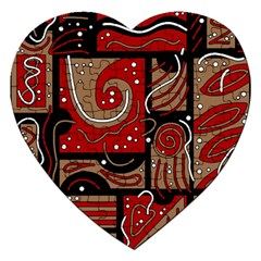 Red and brown abstraction Jigsaw Puzzle (Heart)