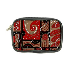 Red and brown abstraction Coin Purse