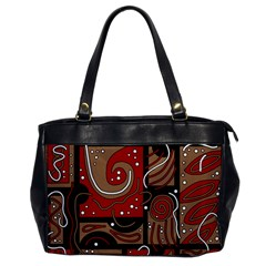 Red and brown abstraction Office Handbags