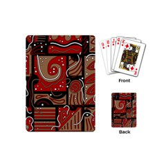 Red and brown abstraction Playing Cards (Mini)