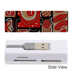 Red and brown abstraction Memory Card Reader (Stick)