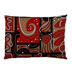 Red and brown abstraction Pillow Case (Two Sides)