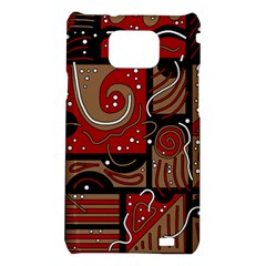 Red and brown abstraction Samsung Galaxy S2 i9100 Hardshell Case