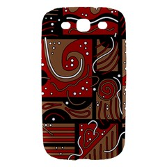 Red and brown abstraction Samsung Galaxy S III Hardshell Case