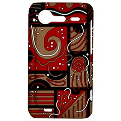 Red and brown abstraction HTC Incredible S Hardshell Case