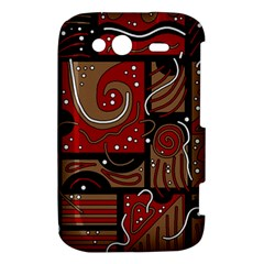 Red and brown abstraction HTC Wildfire S A510e Hardshell Case