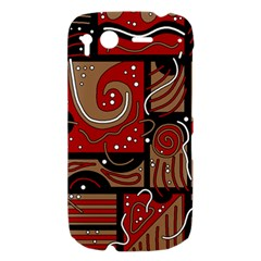 Red and brown abstraction HTC Desire S Hardshell Case
