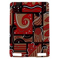 Red and brown abstraction Kindle Touch 3G