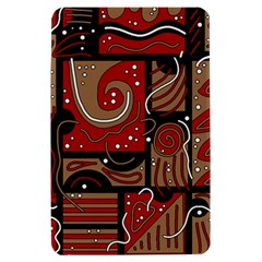 Red and brown abstraction Kindle Fire (1st Gen) Hardshell Case