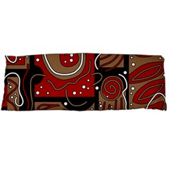 Red and brown abstraction Body Pillow Case Dakimakura (Two Sides)