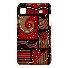Red and brown abstraction Samsung Galaxy S i9008 Hardshell Case