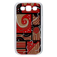 Red and brown abstraction Samsung Galaxy S III Case (White)